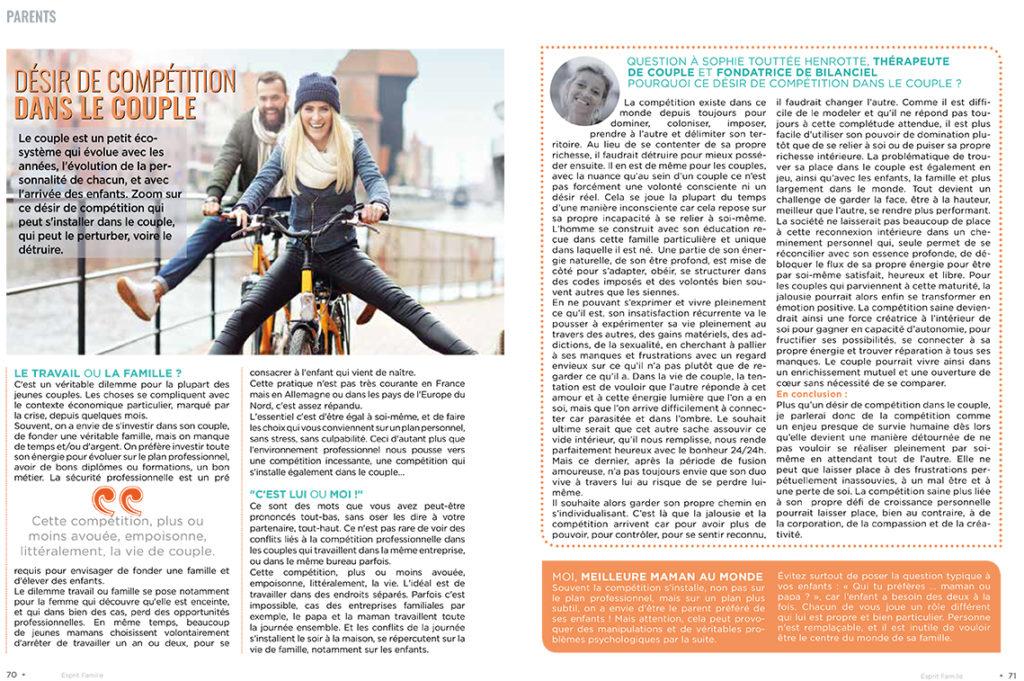Interview Sophie Touttee Henrotte Esprit Bébé - Avril 2021
